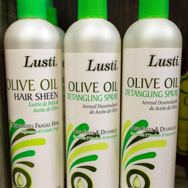 Lusti olive oil hair sheen for rejuvenating fragile hair after a lice treatment